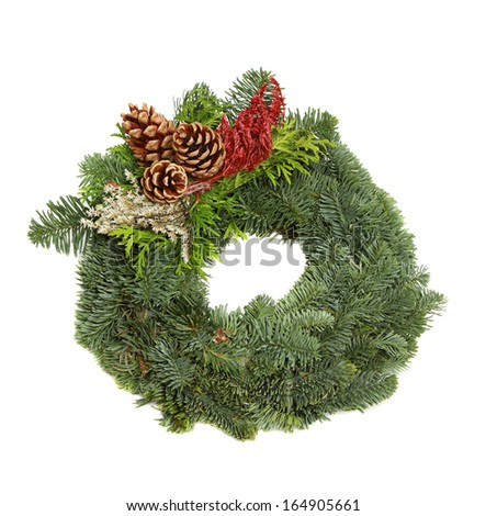 Advent wreath isolated on white.  - stock photo