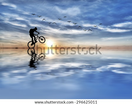 adventure and sports in nature - stock photo