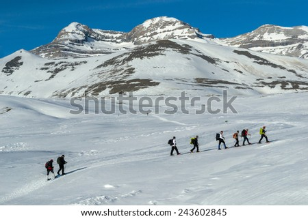 adventure in the Pyrenees - stock photo