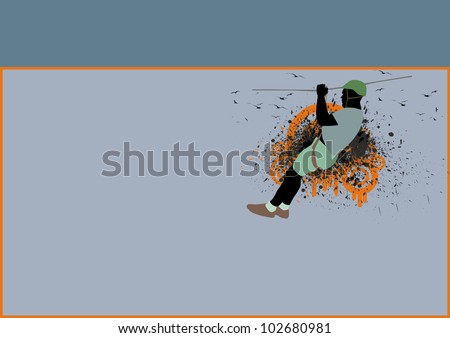 Adventure park background with space (poster, web, leaflet, magazine) - stock photo