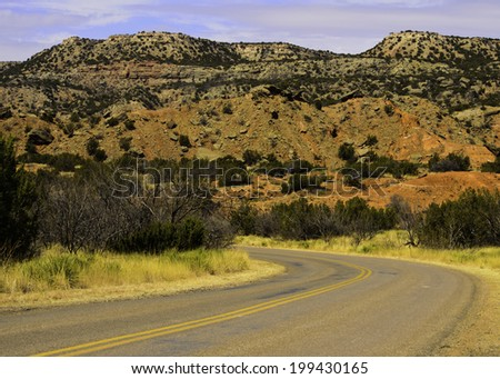 Adventure road - stock photo