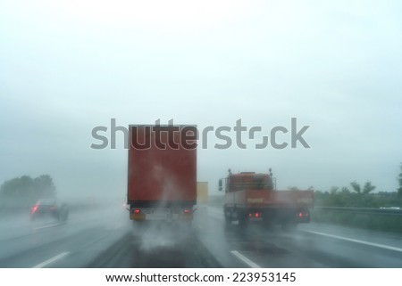 adverse weather conditions - stock photo