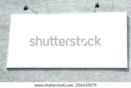 Advertise billboard on street - stock photo