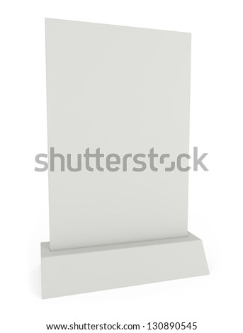 Advertisement and Menu Panel isolated on white  - 3d illustration - stock photo