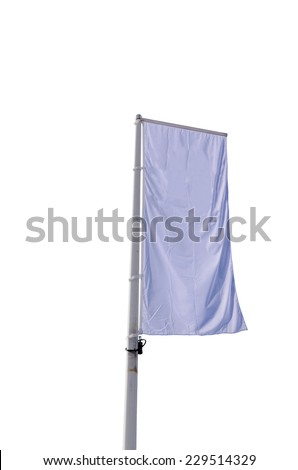Advertisement banner isolated on white. Copy space for your messages and promotions - stock photo