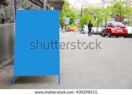 Advertisement billboard at street - stock photo
