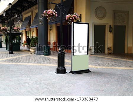 advertisement blank in a modern building - stock photo