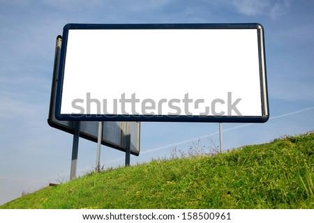 Advertisement board - stock photo