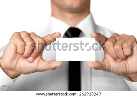 Advertisement, business, business card. - stock photo