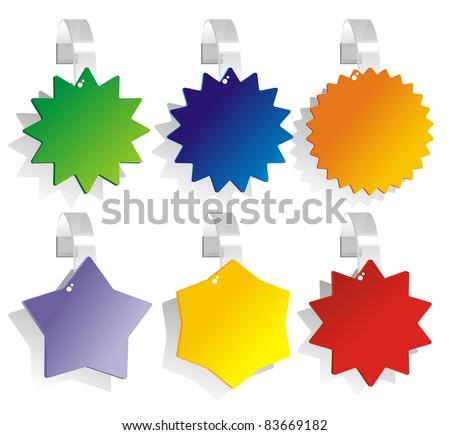 advertising color Paper wobbler - stock photo