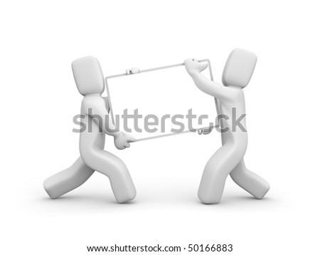 Advertising concept. Add you text or design - stock photo