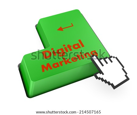Advertising concept: computer keyboard with word Digital Marketing - stock photo