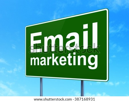 Advertising concept: Email Marketing on road sign background - stock photo