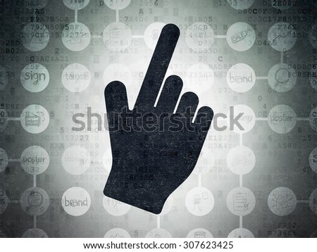 Advertising concept: Mouse Cursor on Digital Paper background - stock photo