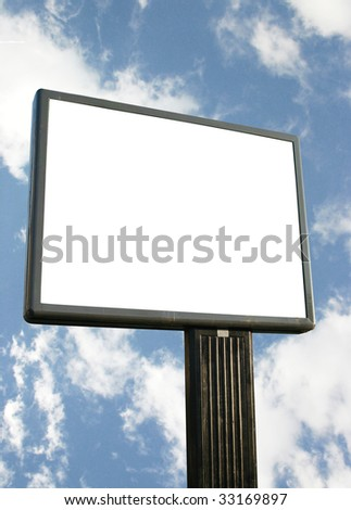 Advertising panel series - stock photo