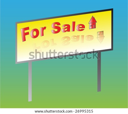 Advertising sale on a color background