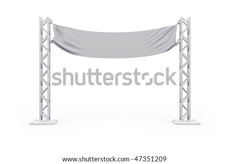 Advertising signboard. billboard for your advertising and web design - stock photo