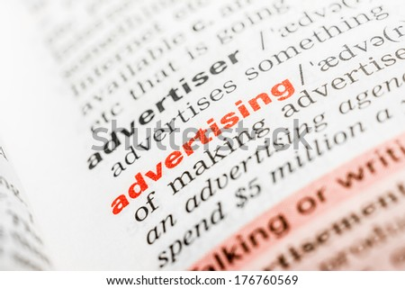 Advertising Word Definition In Dictionary