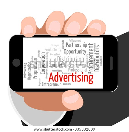 Advertising Word Showing Adverts Promote And Promotion - stock photo