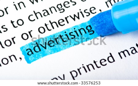 advertising word text