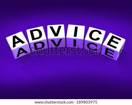 Advice Blocks Indicating Direction Recommendation and Guidance - stock photo