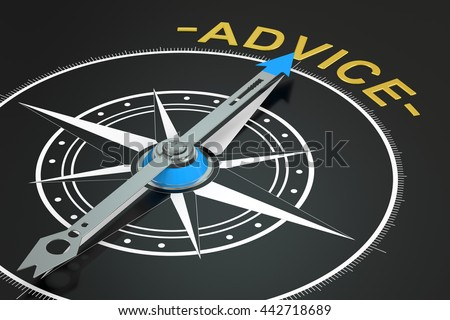 advice compass concept, 3D rendering - stock photo