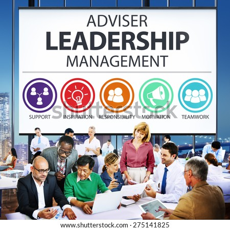 Adviser Leadership Management Director Responsibility Concept - stock photo