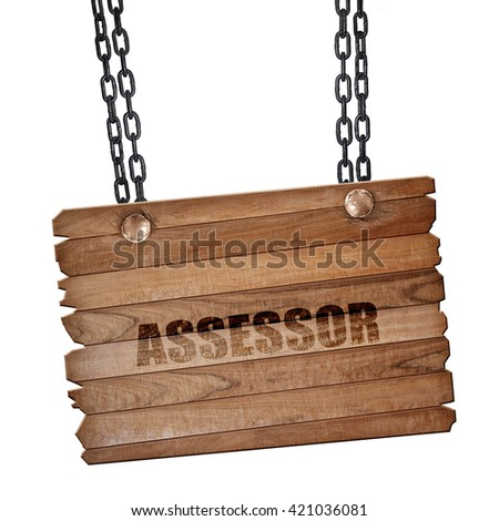 Advisor, 3D rendering, wooden board on a grunge chain - stock photo