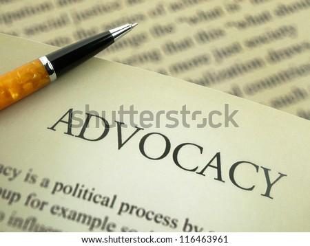 Advocacy - stock photo