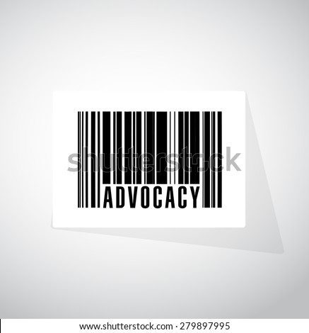 advocacy barcode sign concept illustration design over white - stock photo