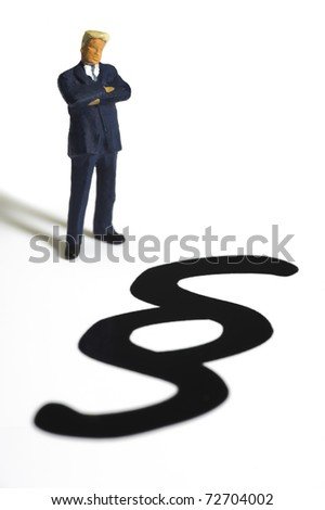 advocate and paragraph sign of law - stock photo