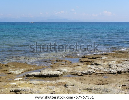 Aegean Sea in Greece.Mediterranean Sea