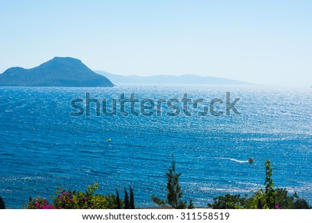 Aegean sea landscape, Bodrum, Turkey - stock photo