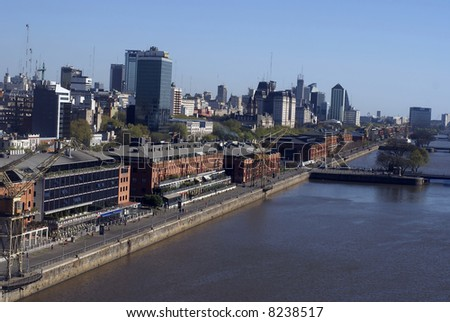 Aeiral view of Puerto Madero in Buenos Aires