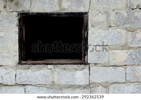 Aerated concrete masonry with window hole