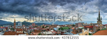 Aerial cityscape panorama of Batumi. Georgia. - stock photo
