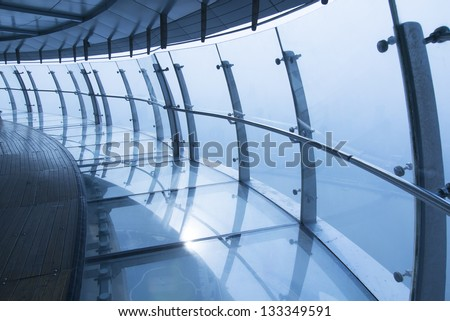 Aerial corridor construction - stock photo