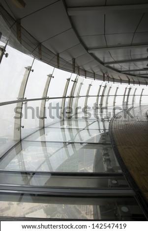 Aerial corridor construction - stock photo