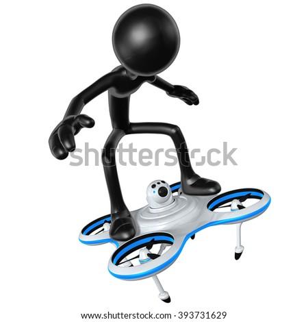 Aerial Drone Concept - stock photo