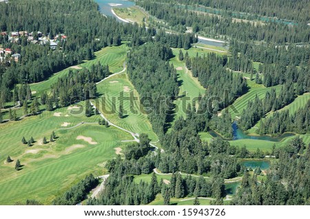aerial golf course