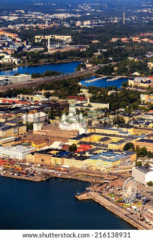 Aerial image from helsinki - stock photo