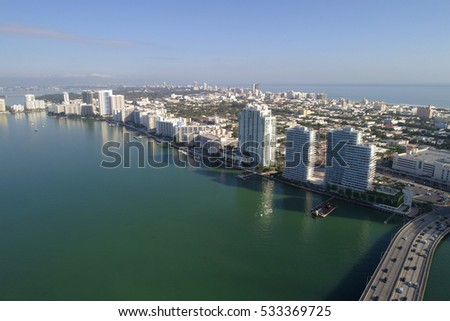 Aerial image of Miami Beach Biscayne Bay