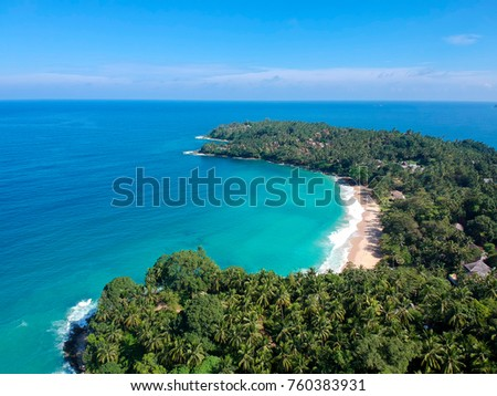 Aerial image of tropical beach drone photo