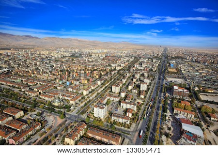 aerial konya city - stock photo