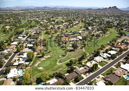Aerial of Moon Valley Golf Course in Phoenix, Arizona