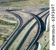 Aerial of route 101 and route 51 highways and overpass in Arizona. - stock photo