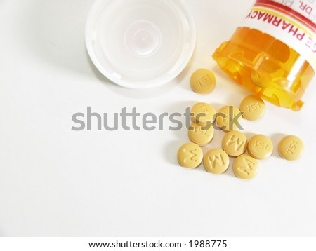aerial of yellow round pills