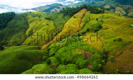 Aerial photo of nature landscape in Thailand.