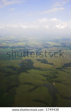 Aerial photos of farmlands for backgrounds and textures - stock photo