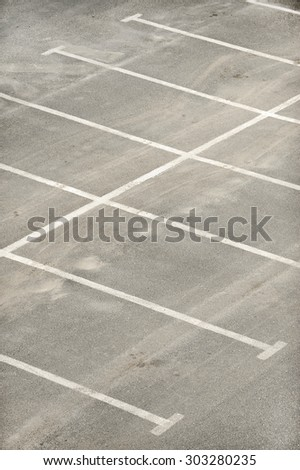 Aerial shot with empty parking lot - stock photo